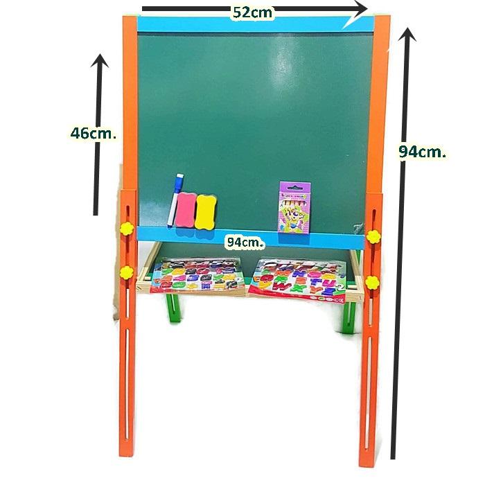 กระดานไม้ขาตั้ง เขียนได้ 2 ด้าน ความสูง 94cm.