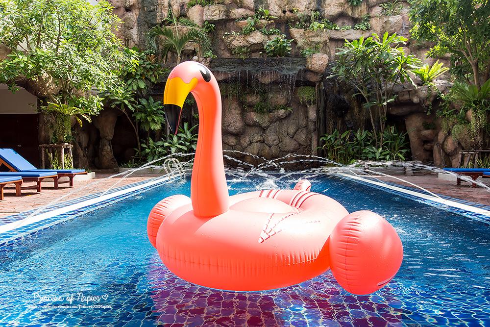 ห่วงยางแฟนซีฟลามิงโก้ คอยาว แพยางฟลามิงโก้เป่าลม Flamingo Pool Floa