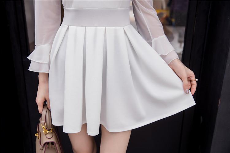 ชุดเดรสแฟชั่นเกาหลีสีขาวสวยๆ