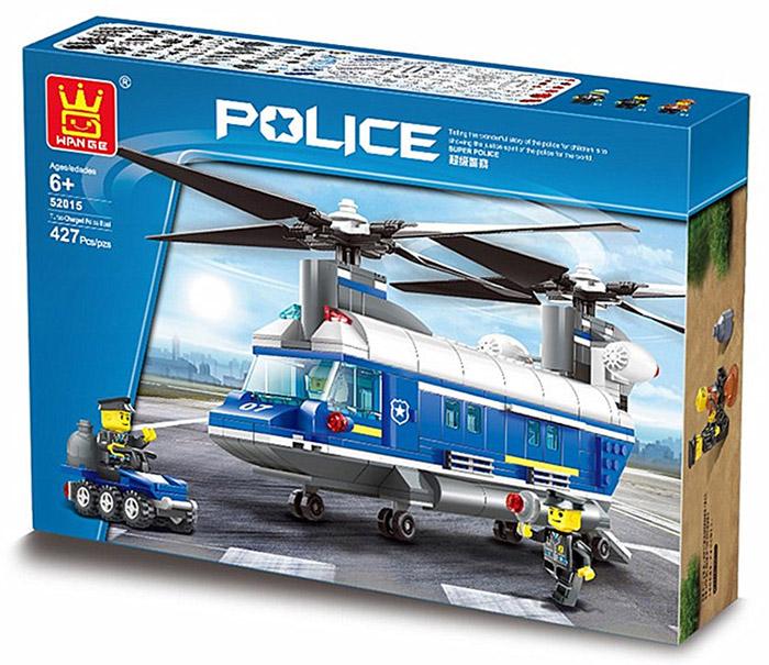 52015 Heavy-Duty Helicopter เฮลิคอปเตอร์ลำเลียงของทีมตำรวจ