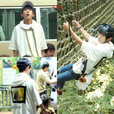 เสื้อฮู้ดแฟชั่นเกาหลี TFBOYS ทรงหลวม แต่งลายด้านหลัง