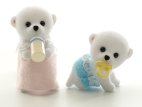 ซิลวาเนียน เบบี้แฝดหมีขั้วโลก นอน-คลาน (UK) Sylvanian Families Polar Bear Twins