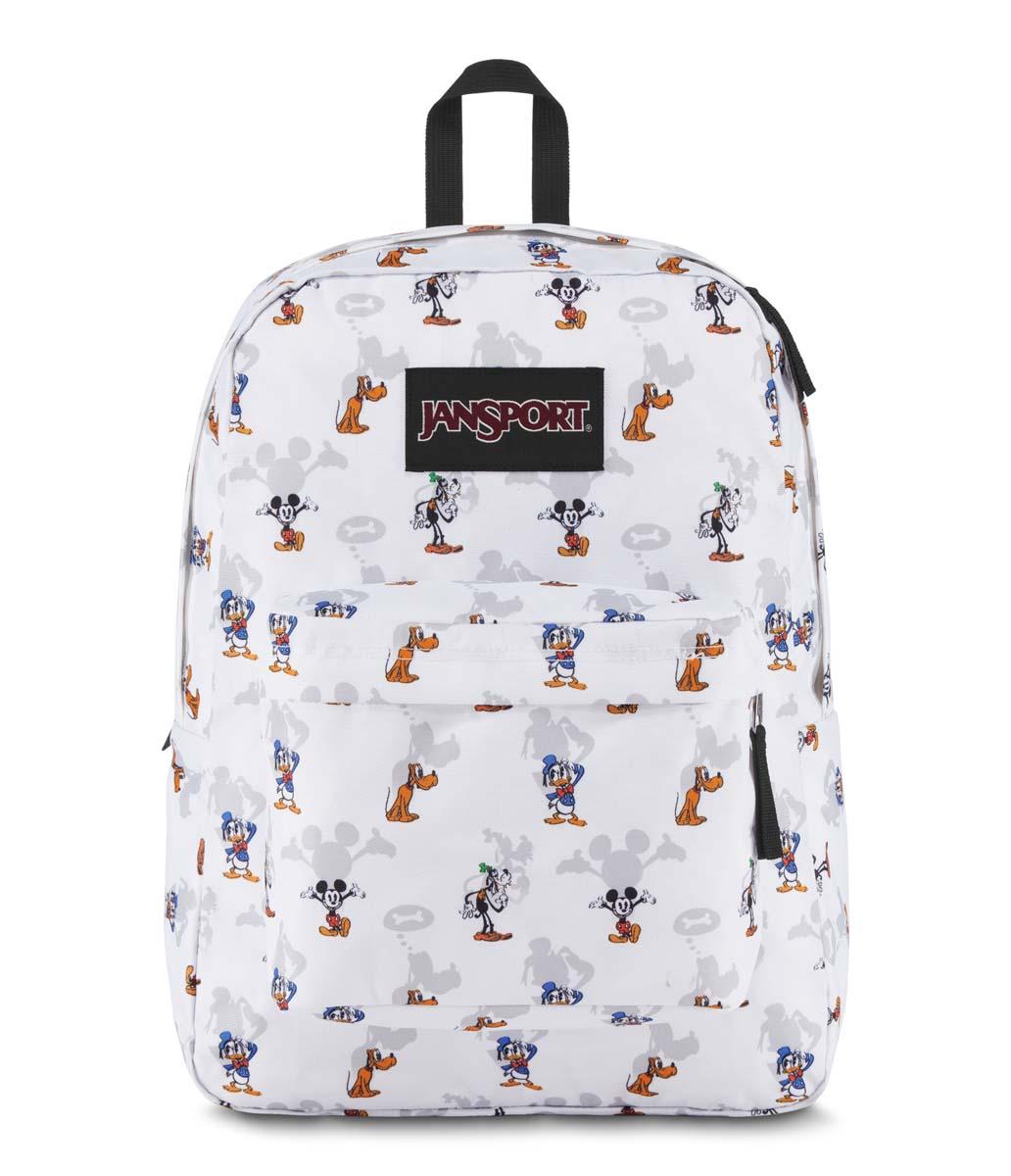 JanSport กระเป๋าเป้ รุ่น Superbreak - Disney Fab Shodows White