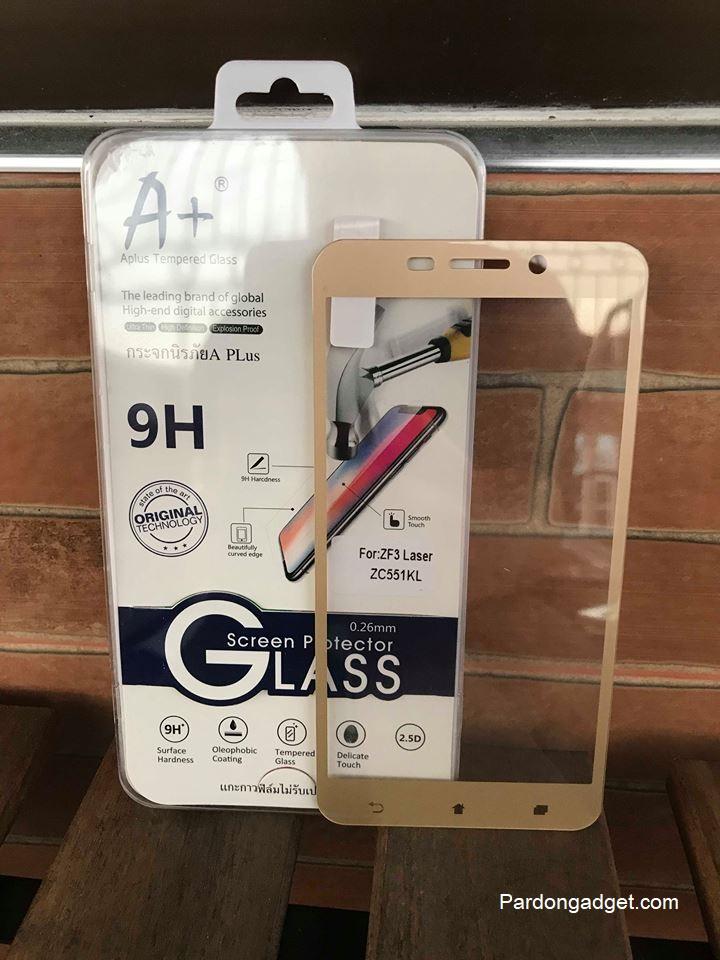 ฟิล์มกระจก Zenfone 3 Laser(ZC551KL) เต็มจอ สีทอง