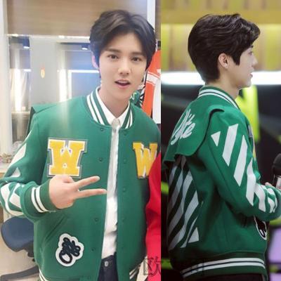เสื้อแจ็คเก็ตแขนยาว EXO แต่งพิมพ์ลาย มี2สี