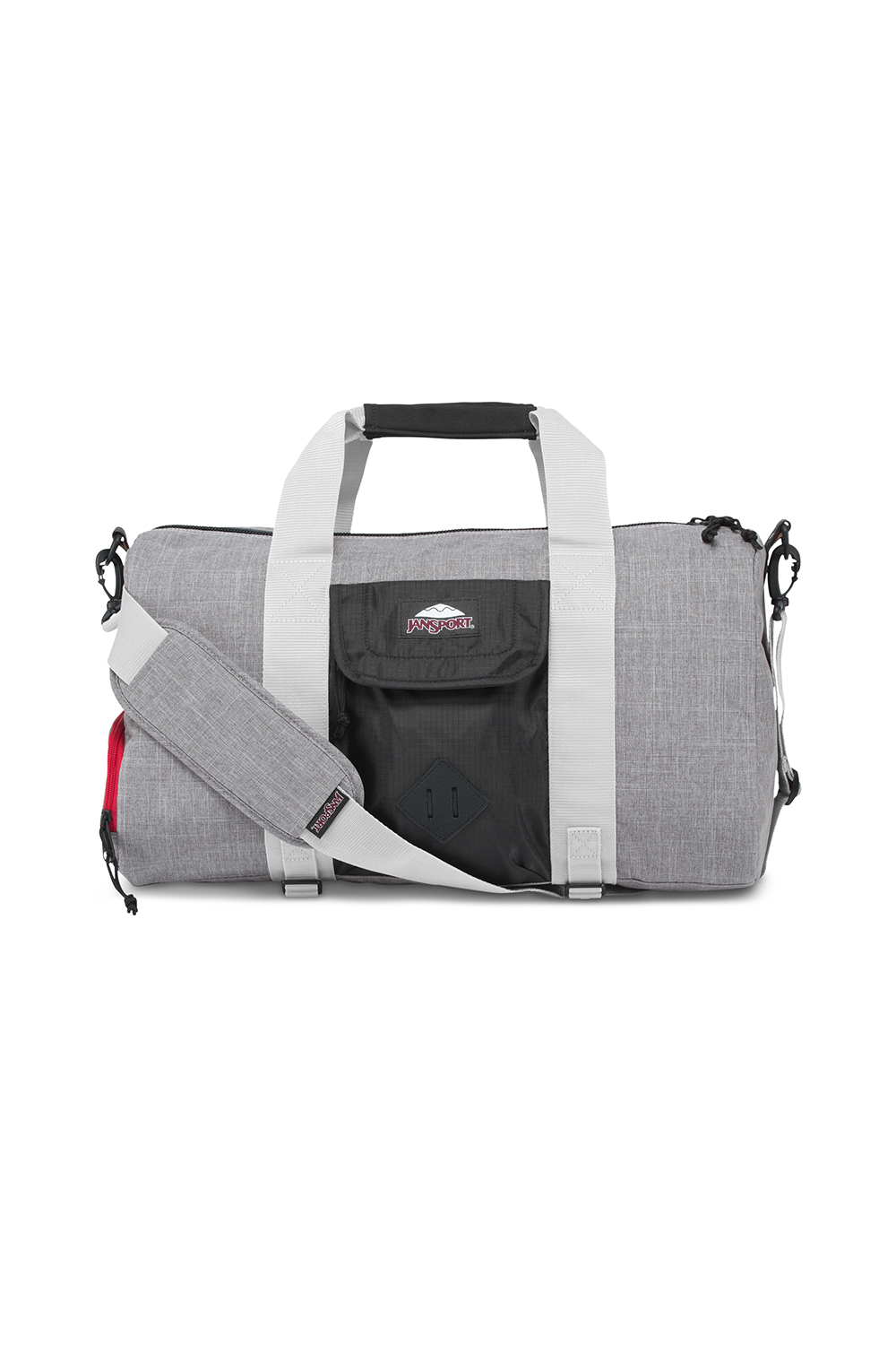 JanSport กระเป๋าเป้ รุ่น Duffel DL - Black Poly Ripstop/Grey Marl