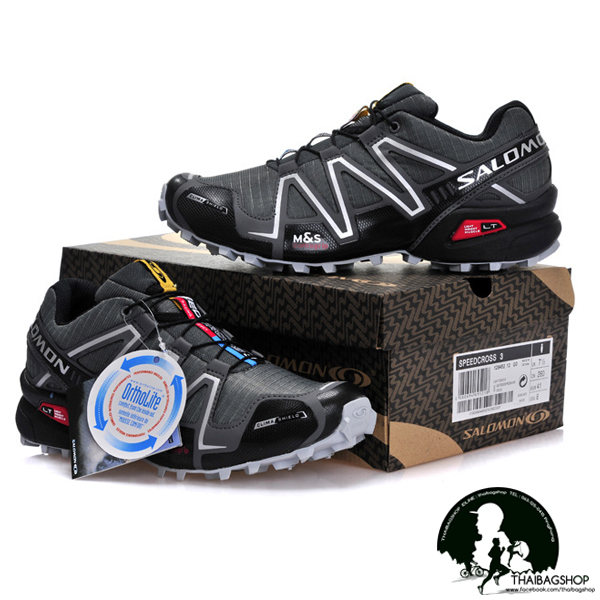 รองเท้า salomon สี เทาขาว