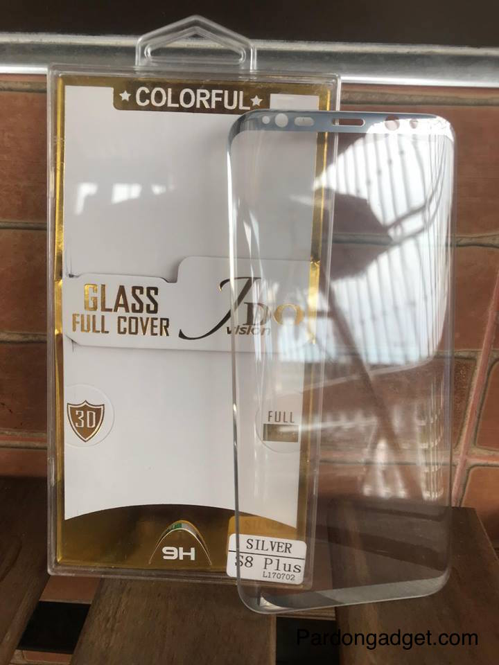 ฟิล์มกระจกเต็มจอ S8 Plus สีเงิน