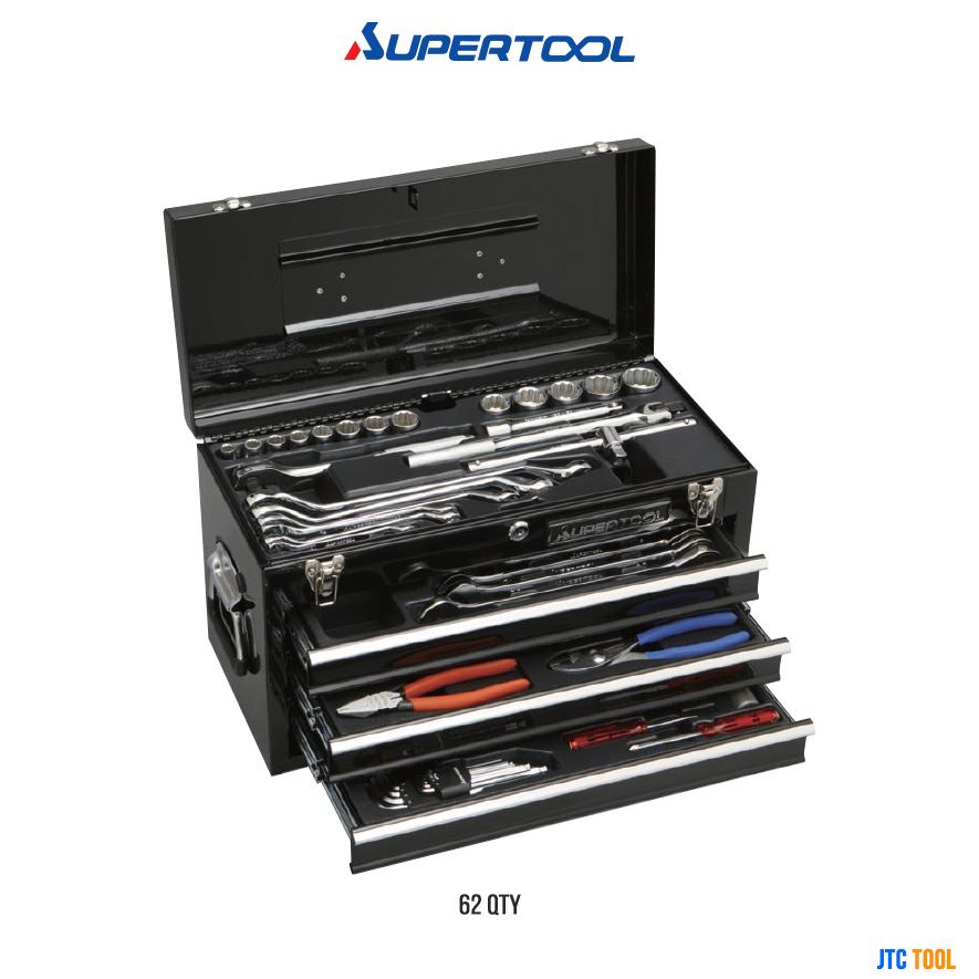 ชุดเครื่องมือพร้อมหีบ - Tool Set (62/ชิ้น) [Supertool]