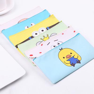 กระเป๋าใส่ปากกาดินสอนักเรียน ซองพลาสติกพิมพ์ลายการ์ตูนเกาหลีน่ารัก มีหลายแบบมาก คละแบบ ขนาด 19*9.5 ซม.