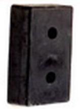 ยางกันกระแทก สี่เหลี่ยมตัน 26.5x46.5x15 cm