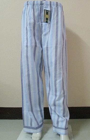 กางเกงนอนขายาว(ชาย) ผ้าคัตตอน เกรด เอ แบบลาย โทนสีฟ้า ไซส์ XL