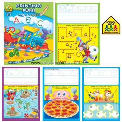 สมุดหัดเขียน แบบลบได้ ABCs Alphabet Fun Workbook - Write-on & Wipe-off, Blue