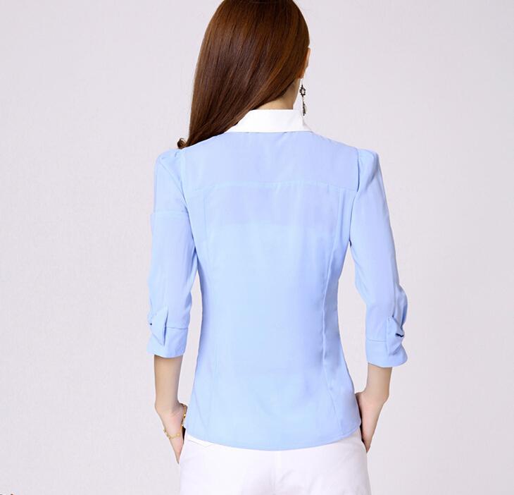 รหัส B12/ฟ้า เสื้อลูกไม้เนื้อดีสีขาวต่อช่วงแขนและหลังด้วยผ้าชีฟองสีฟ้า cutting/patternเนี้ยบ
