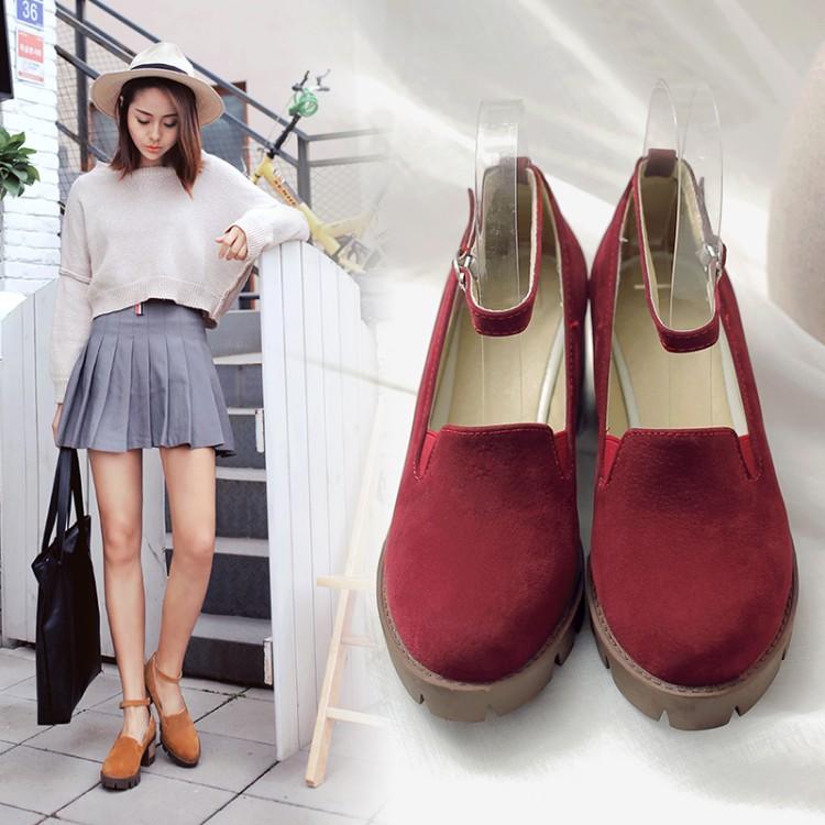 Preorder รองเท้าแฟชั่น สไตล์เกาหลี 34-43 รหัส SK-6966