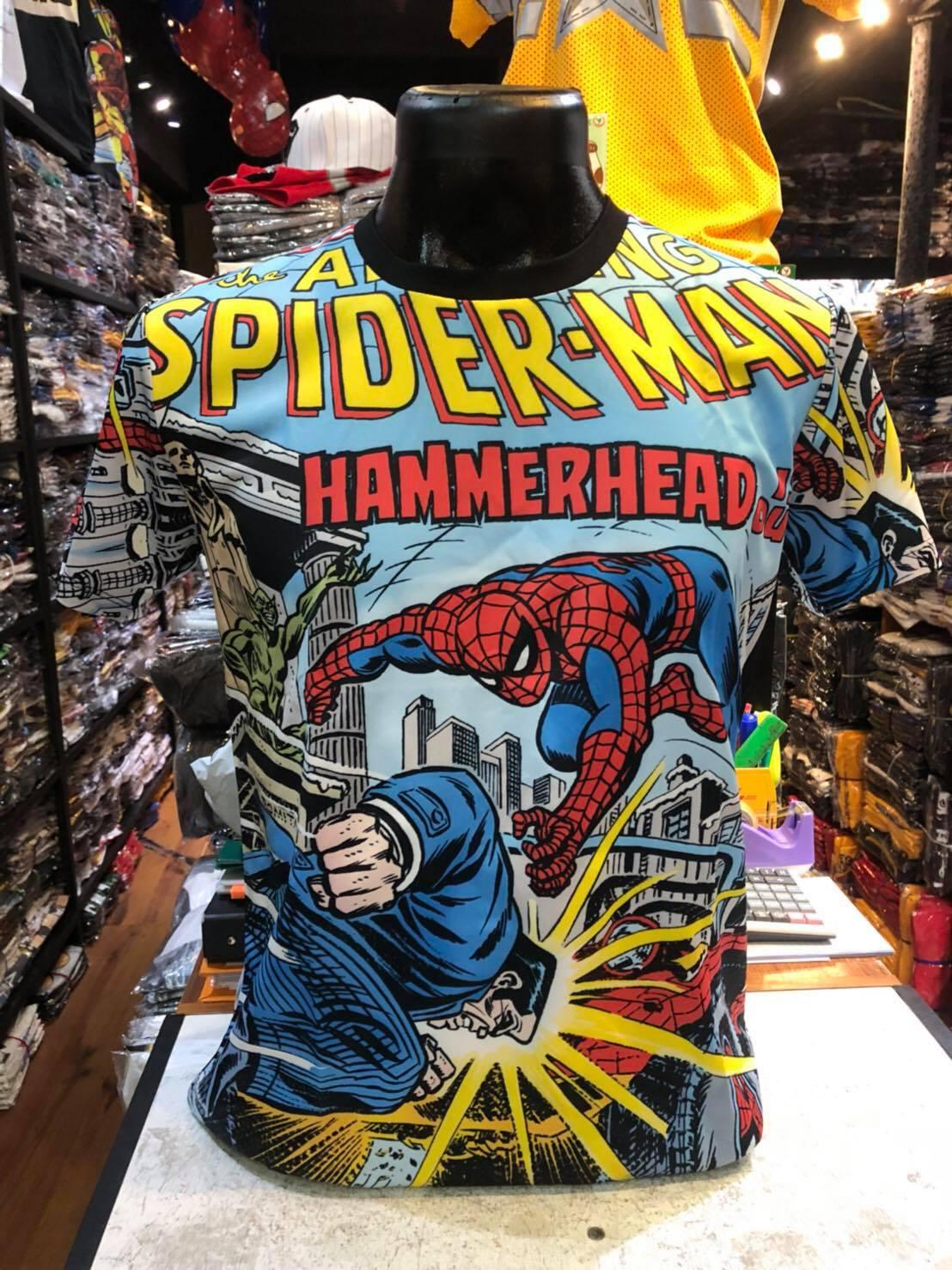 มาร์เวล ผ้า premium SCUBA (Spiderman Hammer head CODE:1120)