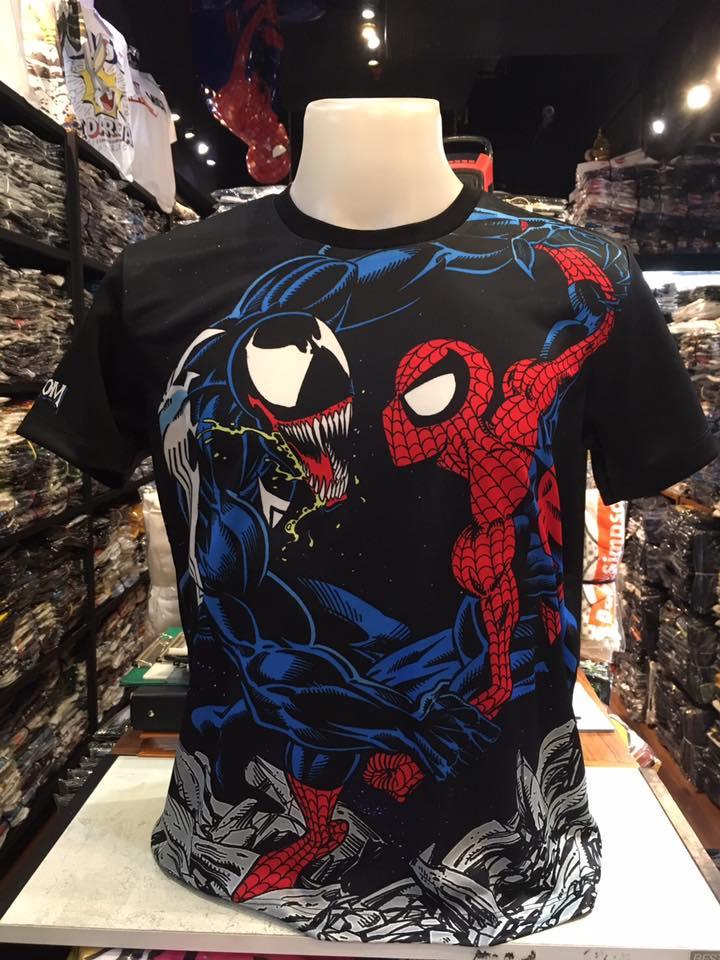 มาร์เวล ผ้า premium SCUBA (Spider vs Venom)