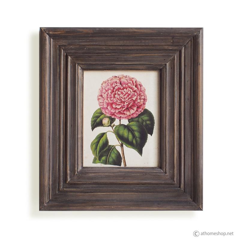 วอลล์อารต์พิมพ์ลายดอกกุหลาบ กรอบบัวไม้