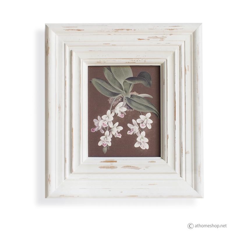 วอลล์อาร์ตพิมพ์ลายช่อดอกไม้ กรอบบ้วสีขาว