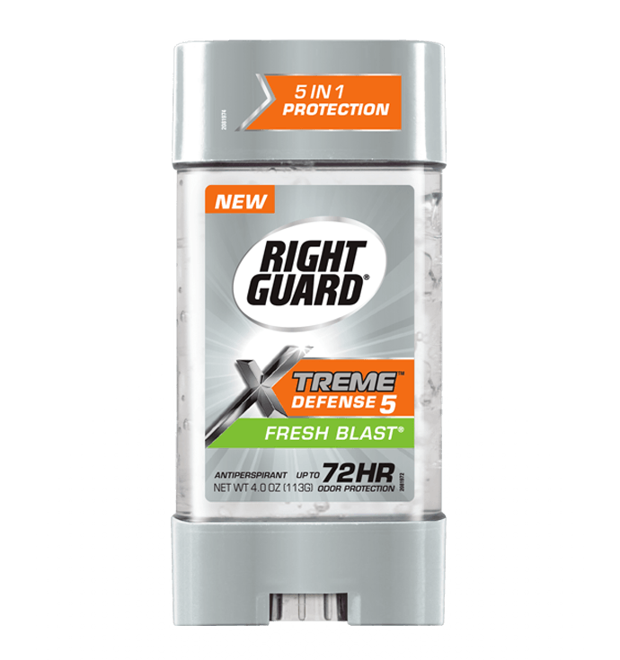 Right Guard Extreme Defense 5 Power Gel กลิ่น Fresh Blast 4 oz. / 113 g. ระงับกลิ่นกายแบบเจล ปกป้องนาน 72 ช.ม. ดีมากๆจากอเมริกาค่ะ