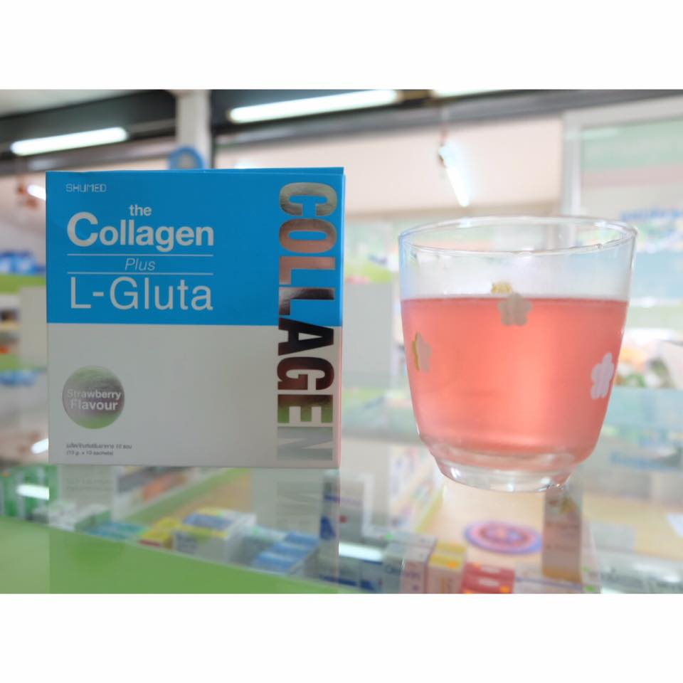 SHUMED THE COLLAGEN+L-GLUTA STRAWBERRY 10 ซอง