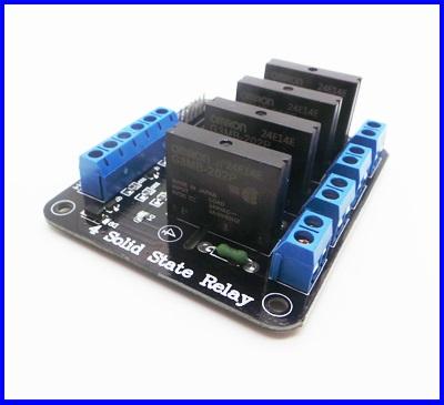 โซลิดสเตตรีเลย์ 4ช่อง 5V OMRON SSR High Level Solid State Relay Module For Arduino 250V2A