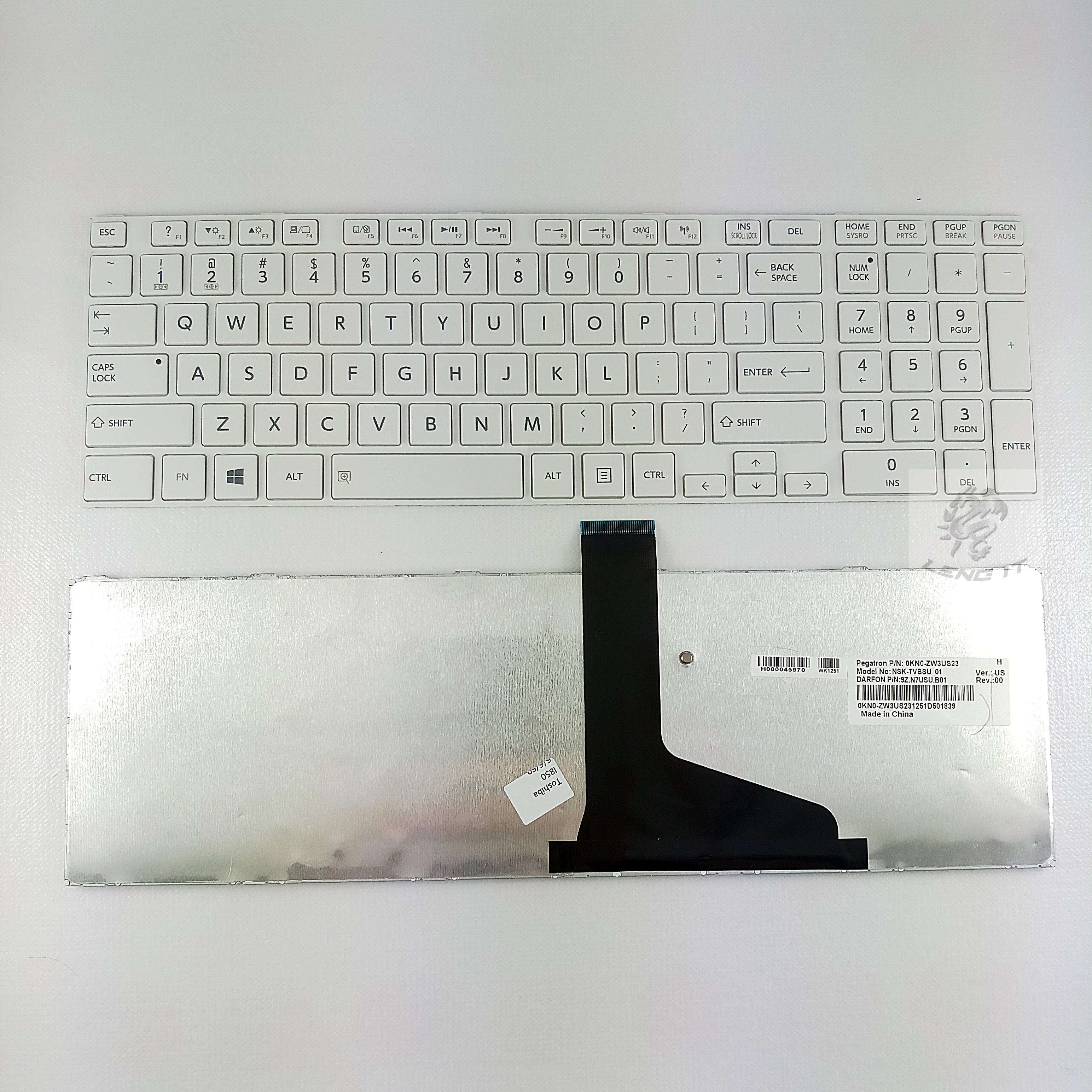 KEYBOARD TOSHIBA L850 สีขาว