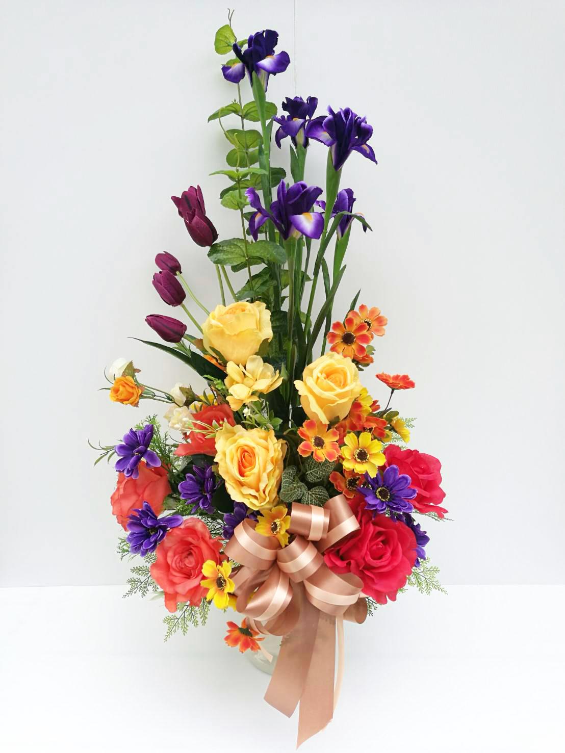 แจกันดอกไม้ประดิษฐ์โทนสีใหญ่ รหัส 3082