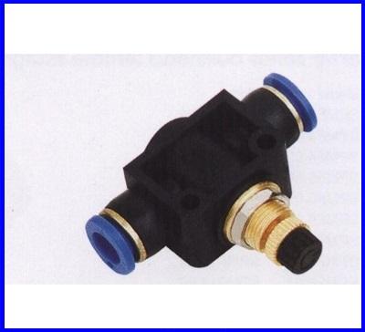 ขั้วต่อลม ข้อต่อลม อุปกรณ์ลม SPA-4 SPA series pipe speed control valve