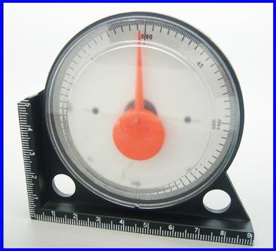 เครื่องวัดองศาอนาล็อก เครื่องวัดมุมจานดาวเทียม มิเตอร์วัดมุม 0-90องศา Inclinometer Angle Finder Tool (Made in China)