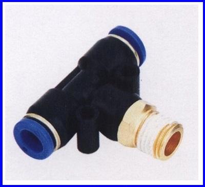 ขั้วต่อลม ข้อต่อลม อุปกรณ์ลม SPB4-M5 SPB series male brench tee(จำนวน10ชิ้น)