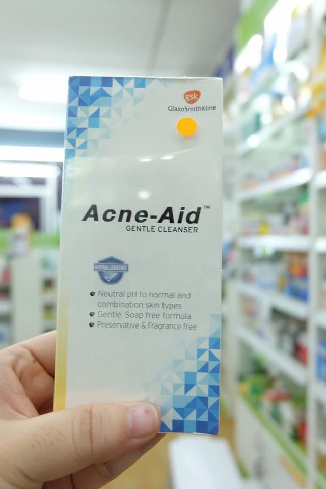 Acne aid Gentle ฟ้า 100 ml