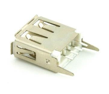 ช่องเสียบ USB ตัวเมีย ขาตรง บัดกรีลงปริ้น