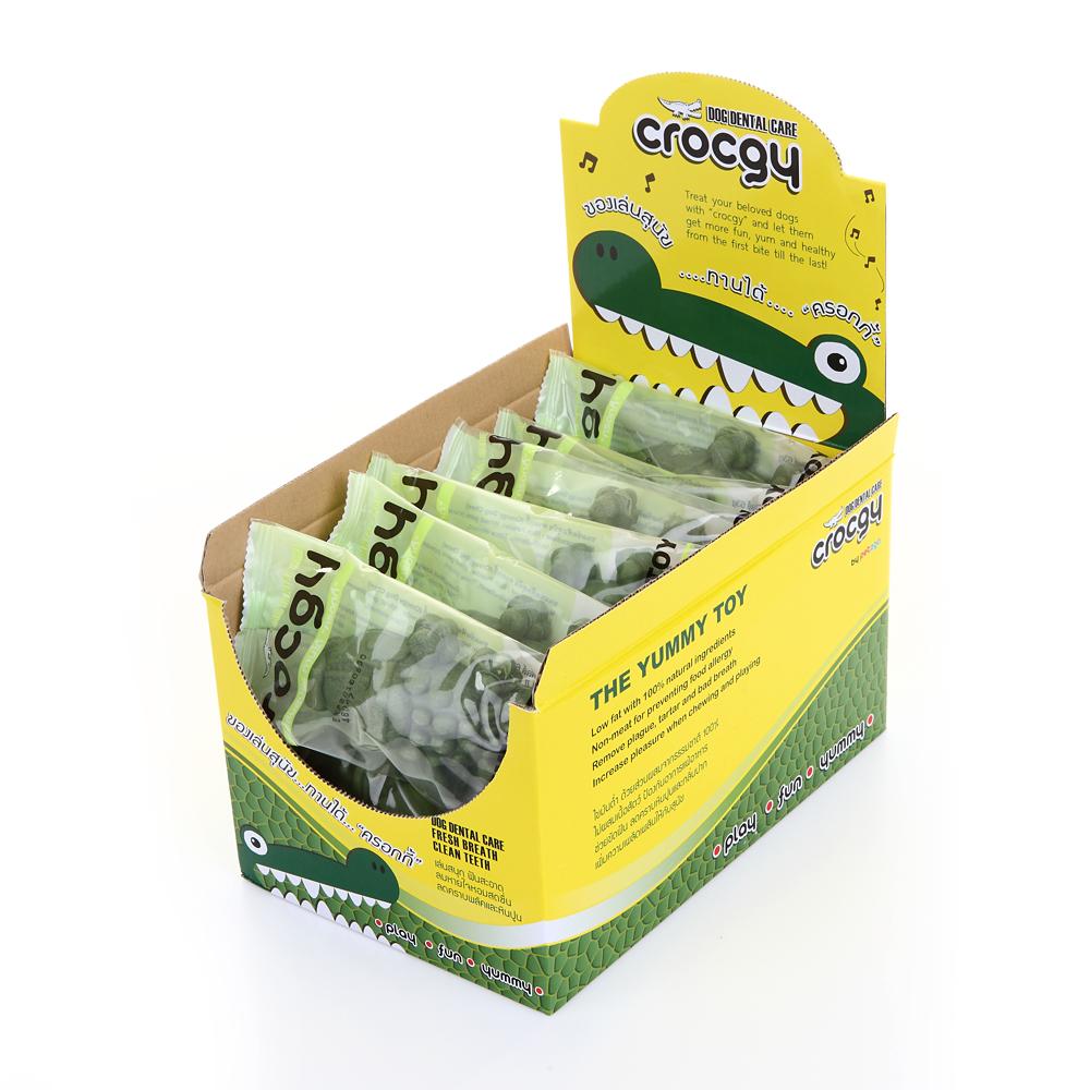 PET2GO ขนมขัดฟันสุนัข CROCGY รสคลอโรฟิลล์ 63g (14ตัว/กล่อง)