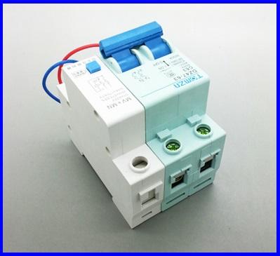 เซอร์กิตเบรกเกอร์ AC ไฟตกและไฟเกิน TOMZN Circuit Breaker DZ47-63 C63A P2