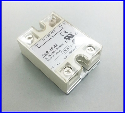 โซลิดสเตตรีเลย์ 40A solid state relay SSR-40AA 40A actually 80-250VAC TO 24-380VAC