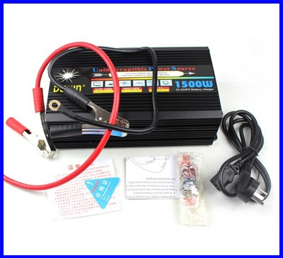 อินเวอร์เตอร์ ขนาด1500W Sine Wave Power Inverter เครื่องแปลงไฟ 12VDC เป็นไฟฟ้าบ้าน 220V พร้อมชาร์ทแบตเตอรีได้ในตัว