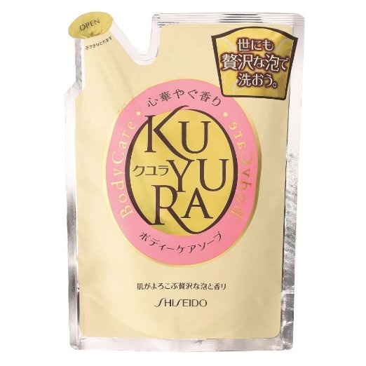 Shiseido Kuyura Body Care ถุงเติม 400 ml.สบู่อาบน้ำสูตรอ่อนโยน กลิ่นหอมสดชื่นจากญี่ปุ่นค่ะ