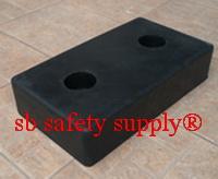ยางกันกระแทก สี่เหลี่ยมผืนผ้า 26.5x46.5x15 cm
