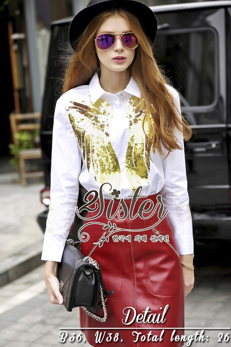 Long-sleeves with Golden Vintage pattern