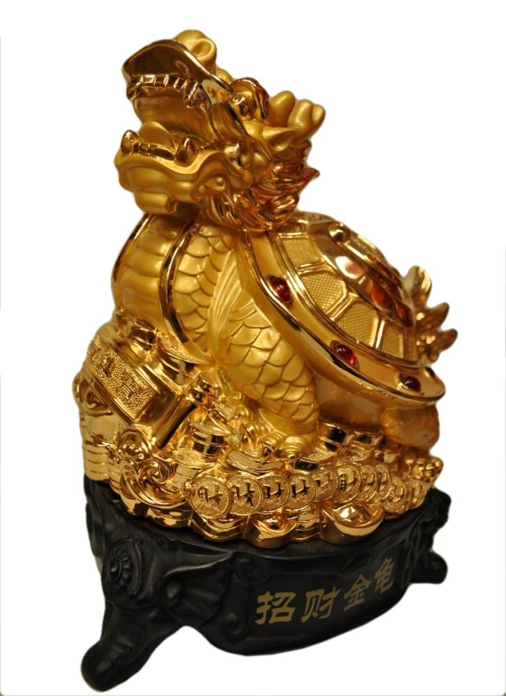 เต่าหัวมังกรฐานเหรียญทอง ตัวเเทนของความมั่งคั่ง บารมี อายุวัฒนา
