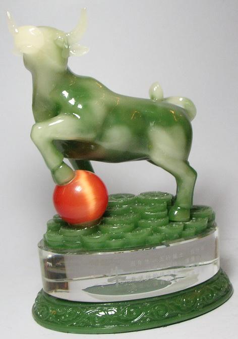 วัวมงคลหยก ตัวเเทนความอุดมสมบูรณ์