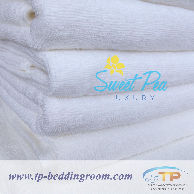 ผ้าเช็ดตัวไซส์คนไทยสีขาว 27″x 54″ นิ้ว 12 Ibs