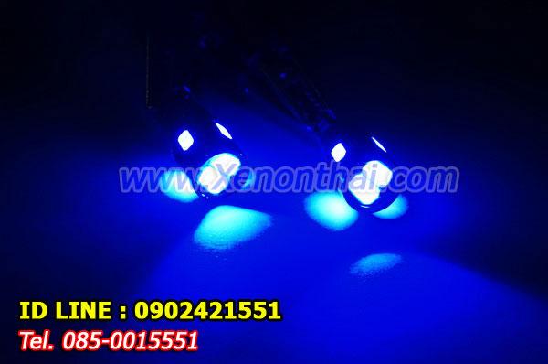 LED-T10-5730-6SMD-หัวเลนส์ แสงสีฟ้า