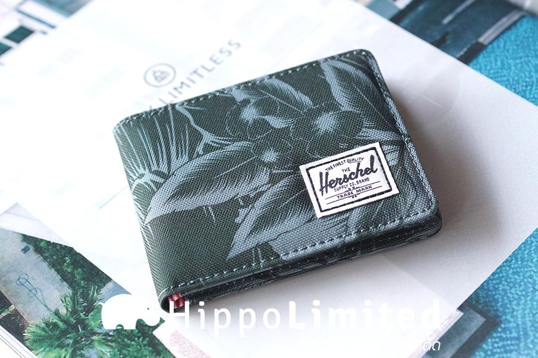 กระเป๋าสตางค์ Herschel Roy Wallet - Jungle Floral Green