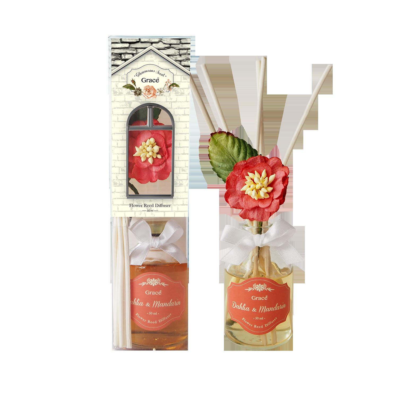 Reed Diffuser 50 ml (Small) - Dahlia & Mandarin