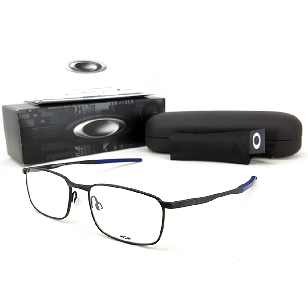 กรอบแว่นสายตา Oakley Barrelhouse เฟรม Satin Black (ขนาด 52-17-140)