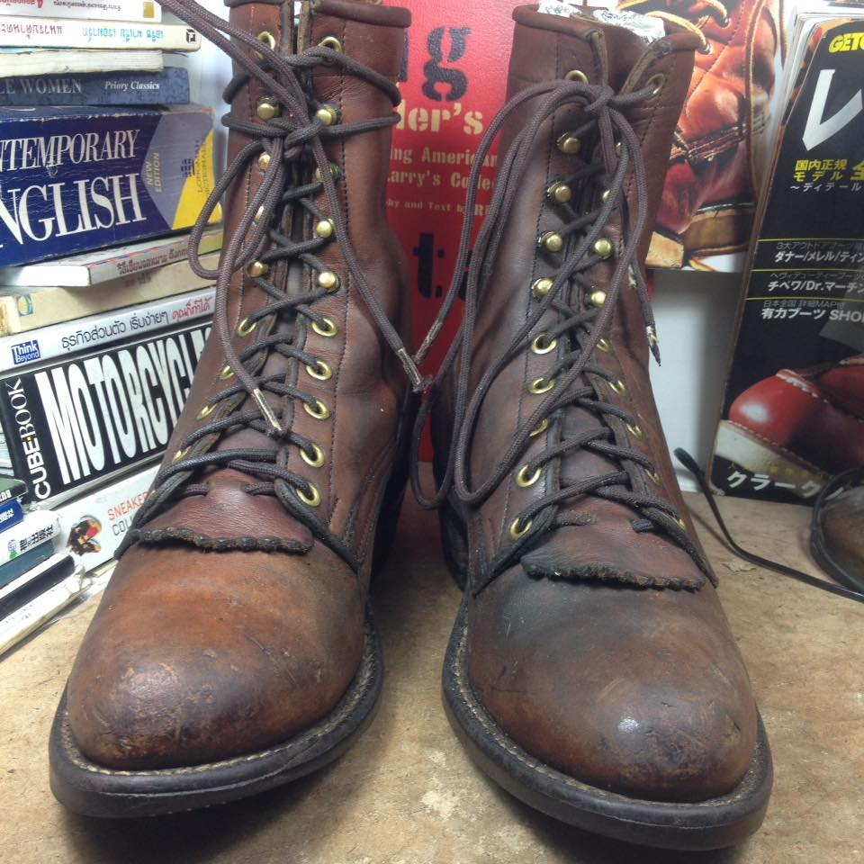 Vintage. Packer made in USA boot 8C ปีลึกๆ ทรงสวย classic