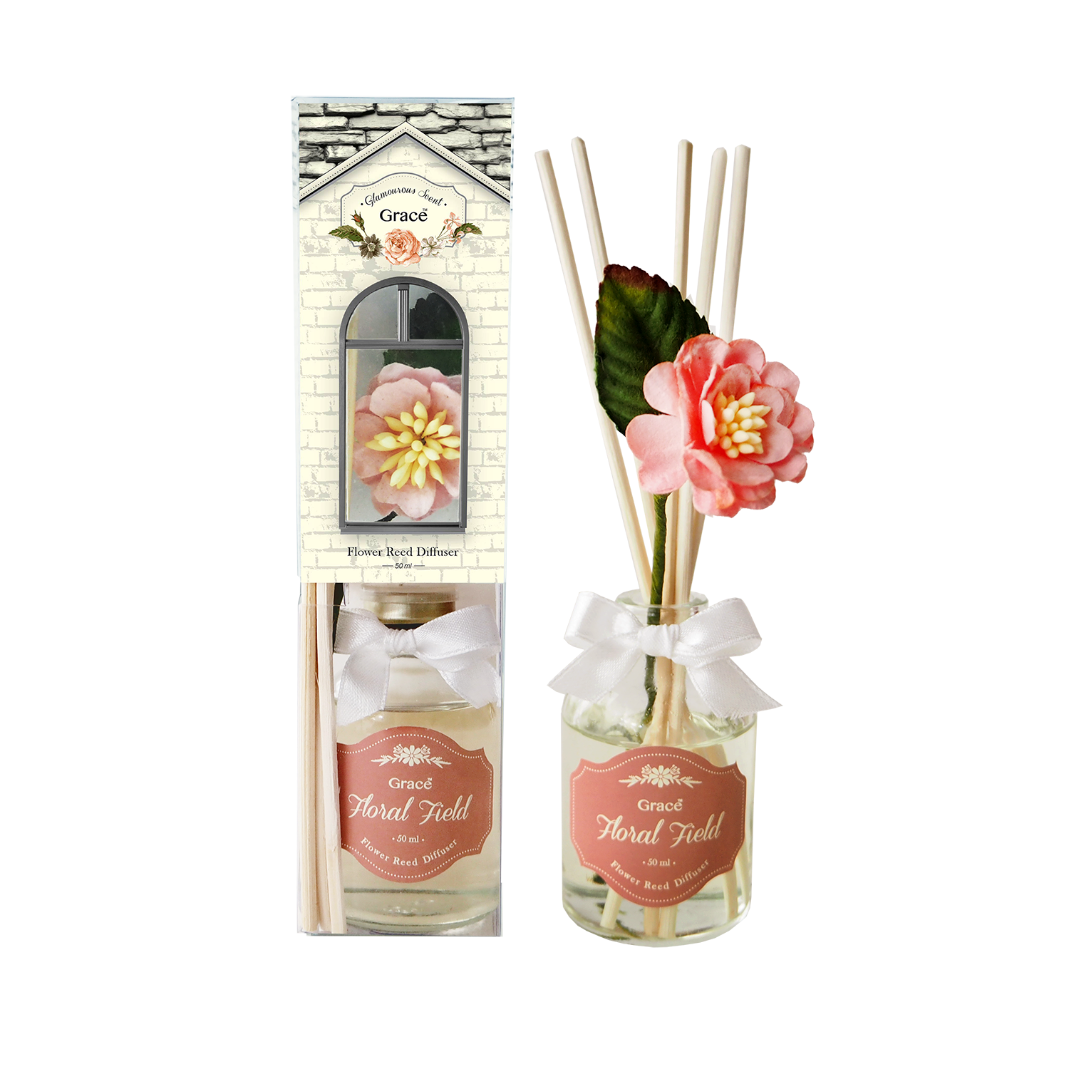 Reed Diffuser 50 ml (Small) - Floral Field