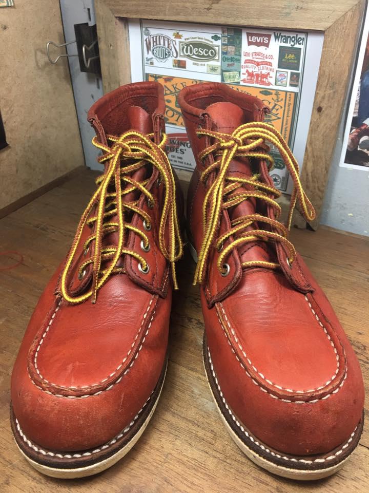 FRYE boot พื้นขาวทรง 875 size 8ด้านใน 26.5 cm หนังดีสีสวยราคา 1650